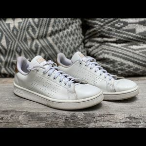 Adidas leather court shoes